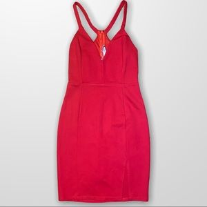 LUSH Red Bodycon Dress Small